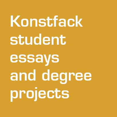 Student essays and degree projects